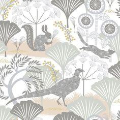 Scandinavian design wallpaper Mårdgömma from collection  by Borastapeter and Eco Wallpaper