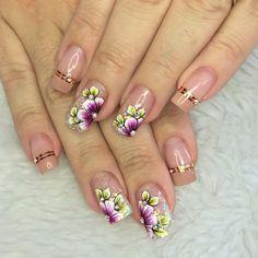 Gel Nails, Nail Polish, Nail Designer, Nail Effects, Manicure E Pedicure, Flower Nails, Blue Nails, Nail Arts, Spring Nails