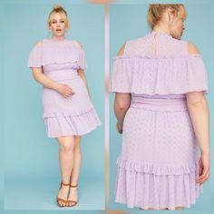 0fe3b7631c41 NWT Lane Bryant Size 18 Lilac Cold Shoulder Eyelet Lace Lined Spring Dress # LaneBryant #. Women's DressesDresses For SaleSpring ...