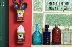 Garrafas e latas: da cozinha para a decoração - dcoracao.com - blog de decoração