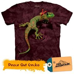 Gecko Shirt Funny Lizard Peace Out T-shirt Tie Dye Adult Tee Wildlife Shirts Animal T-Shirts Tee Available in Small, Medium, Large, XL, & 3d T Shirts, Tie Dye T Shirts, T Shirts For Women, Ink Color, Cotton Tee, Screen Printing, Shirt Designs, At Least, Prints
