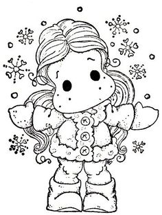 Waiting For Christmas 2014 - Tilda In Cozy Coat Colouring Pages, Adult Coloring Pages, Coloring Books, Christmas 2014, Christmas Colors, Copics, Painting Patterns, Digital Stamps, Embroidery Patterns