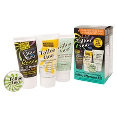 Tattoo Goo Aftercare Complete Kit with Lotion Salve Soap and Renew Enhancer…