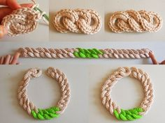 Crochet Chain Necklace: To start the first link ch 8 and ss in the 1st ch to close in the round. (R1: Ch 1, 18 sc inside the 8 ch ring, ss in the 1st sc of this row. Fasten off and weave in all ends.) ༺✿ƬⱤღ http://www.pinterest.com/teretegui/✿༻