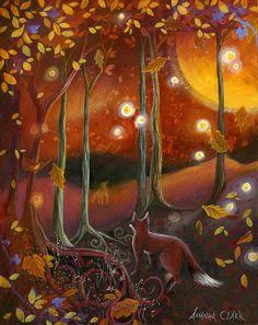 Fox. Samhain Art print by Amanda Clark by earthangelsarts on Etsy