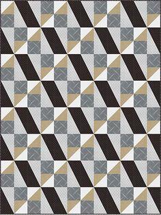 Pieced Lap Quilt & Throw Patterns - Frame of Mind Quilt Pattern
