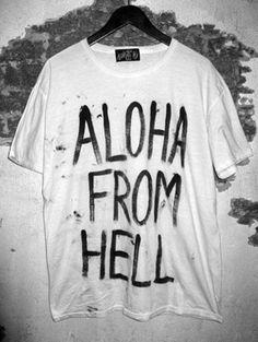 Aloha From Hell | T Y P E I S D O P E #typography