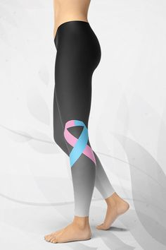 GearBaron supports all causes symbolized with apink and blue ribbon with a special Pink/Blue Ribbon Leggings. A buttery-soft, sweat and odor absorbing. Pink And Blue Ribbon, Pink Blue, Miscarriage Awareness, Pregnancy Progression, Ectopic Pregnancy, Infant Loss, Gym Leggings, Getting Pregnant, American Women