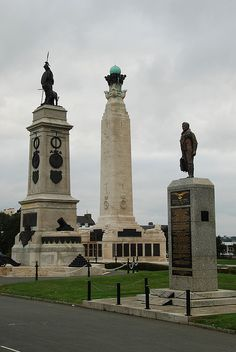 the armada, royal navy and raf memorials, plymouth hoe, devon