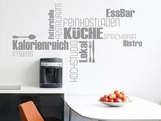 Wandtattoo Wortwolke Küche Restaurant