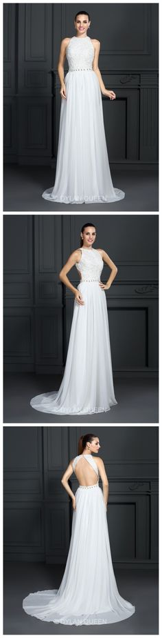 #Charming  2015 white Halter & backless floor-length Prom dress  @dylanqueen