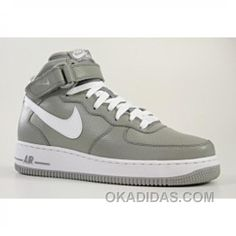 http://www.okadidas.com/nike-air-force-1-mid-white-grey-shoe-free-shipping.html NIKE AIR FORCE 1 MID WHITE/GREY SHOE FREE SHIPPING : $54.25