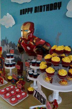 Sally M's Birthday / Avengers Iron Man - Photo Gallery at Catch My Party Avengers Birthday, Superhero Birthday Party, 3rd Birthday Parties, Birthday Fun, Birthday Ideas, Birthday Sayings, Birthday Images, Birthday Greetings, Birthday Wishes
