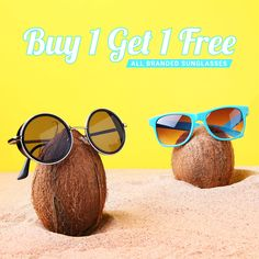 Check Out the New Collection of Branded Sunglasses @Coolwinks! Now Pay for One Pair & Get Other One for FREE. Hurry! Buy Now.