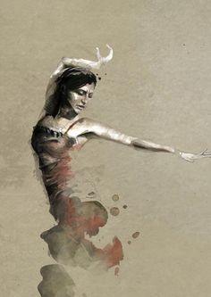 Exquisite Paintings in watercolors by Mario Alba → i ortega by mario alba