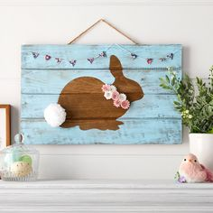 Easter Projects, Easter Crafts For Kids, Easter Decor, Easter Ideas, Easter Art, Bunny Crafts, Spring Crafts, Holiday Crafts, Cricut Stencil Vinyl