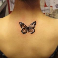 Butterflies Tattoos on Upper Back images