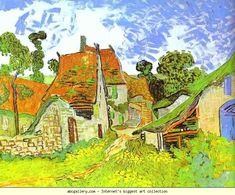 Vincent van Gogh. Village Street in Auvers. Auvers-sur-Oise. Olga's Gallery.