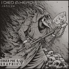 Album cover for 'I Died A Hero' metal band