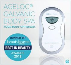 It works by sending tiny electrical currents deep into the skin which then allows your skin to absorb the anti-ageing creams 10x deeper giving them a much greater effect. There is no tingling or pain when you use it, you just hear a beep every minute to let you know that it's still working. It tones, lifts and firms loose/excess skin, and reduces the appearance of cellulite, scars, stretch marks and even varicose veins. Nu Skin, Galvanic Body Spa, Spa Packages, Purifier, Beauty Magazine, Beauty Awards, Beauty Packaging, Smooth Skin, Anti Aging Skin Care