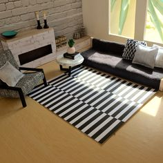 Modern miniature dollhouse renovation More photos Instagram @onebrownbear Printable doll rug available from onebrownbear etsy shop