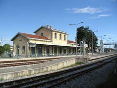 The old train station of Trikala, Greece