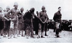 """""""As a war correspondent for the Morning Post, Winston Churchill was captured by the Boers while travelling in an armored train which was wrecked. Picture shows: A group of prisoners, with Churchill on the right"""", 1899 Winston Churchill, Union Of South Africa, British Soldier, British Army, Prisoners Of War, African History, World War I, Marine Corps, Military History"""