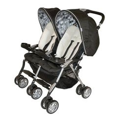 Combi Twin Sport 2010 Side by Side Double Stroller, Sand - For Babies & Kids