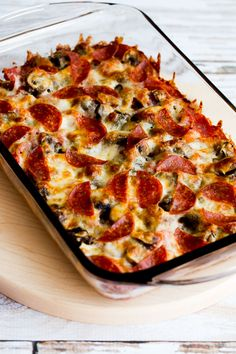 Low-Carb Deconstructed Pizza Casserole