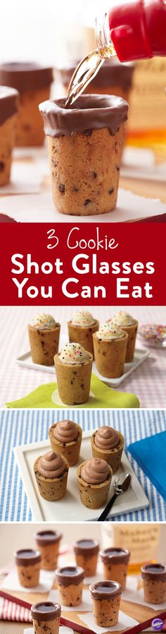 3 Cookie Shot Glasses You Can Eat - Who wants some milk and cookies? The milk and cookie shot has been trending for a couple years now, and we've seen as many different ways of making them as we have flavor combinations. This iconic treat pairing is easier than ever to make when you use the Wilton Cookie Shot Glass Pan Set. Check out these three recipes for cookie shot glasses.