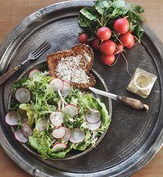This looks & sounds wonderful ~ Radish Salad with Honey Poppy Seed Vinaigrette