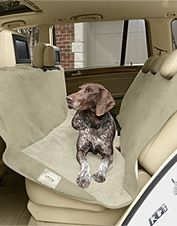 Keep your seats clean when traveling with your pets with our backseat car cover.