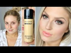 BareSkin foundation by BareMinerals before & after