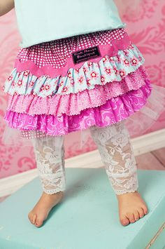 Raspberry Heart Skirt Boutique Clothing Little Girls by pinkmouse, $26.00