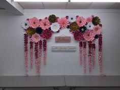 Wedding backdrop paper flowers DIY backdrop bride paper flower wall