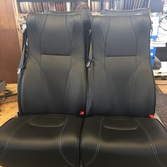 This wide cruiser seat is the ultimate in comfort. Upholstered in luxury black leather with white stitching, these seats are a destination in themselves! Bus Coach, Motorhome, Car Seats, Stitching, Vehicle, Black Leather, Luxury, Stylish, Ideas