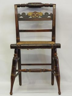 American Federal Paint-Decorated  Fancy Side Chair - Circa 1820.