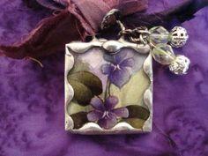 FRIENDSHIP  Soldered Art Glass Pendant by victoriacharlotte, $9.00