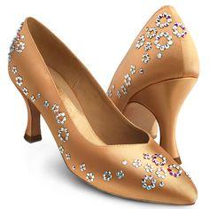 BeSparkle Crystallized Design PT522 | Dancesport Fashion @ DanceShopper.com Ballroom Dance Dresses, Ballroom Dancing, Minion Shoes, Shoe Makeover, Latin Dance Shoes, Bling Shoes, Disney Shoes, Hand Painted Shoes, Cute Boots