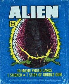 'Alien' trading cards, 1979