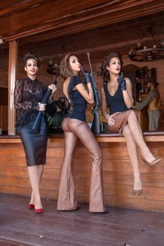 """""""Bang Bang my Baby shot me down!"""" Charlie's Angels wearing Be you New collection! Baby Shots, Bang Bang, Style Guides, Bangs, Leather Skirt, Personal Style, Skirts, How To Wear, Collection"""