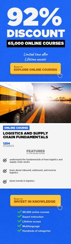 Logistics and Supply Chain Fundamentals Operations, Business #onlinecourses #CoursesTraining #learninggames  Learn the fundamentals of logistics and supply chain Learn all about logistics! In this course you'll learn the fundamental concepts of logistics and supply chain management. The logistic aspects is a key component in a companies success. Professionals in this field play an important role i...