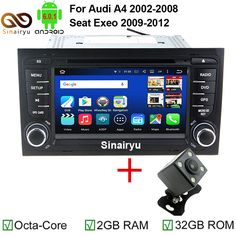 Android 6.0.1 Octa Core 7 Inch In Dash Car DVD Player For Audi A4 2002-2008 With Canbus WiFi 4G GPS Navigation BT Radio Free Map #Affiliate