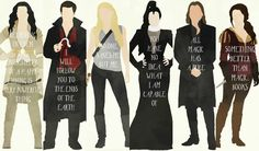 Once Upon  A Time wallpaper <3 characters with quotes . Snow White, Captain Hook <3, Emma, Regina <3, Rumpelstiltskin, Belle <3  Hope you like it <3 xoxoxo