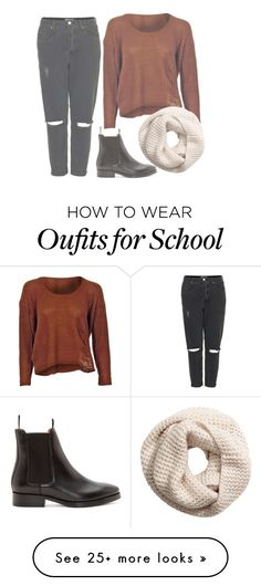 """""""School"""" by unicorncupcakes on Polyvore featuring Topshop, Acne Studios and H&M"""