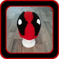 Crochet DEADPOOL Beanie/ Toque from the marvel by TheToqueLady