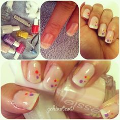 Ice Cream, You Scream, We All Scream for Fun Summer Nails.   Lacquers by Essie and L'Oreal