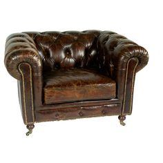 Chesterfield Leather Club Chair- this will be the basis for my Perfect Library
