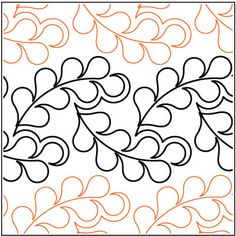 Flowing Feathers - Paper - - Quilts Complete - Longarm Continuous Line Quilting Patterns Quilting Stencils, Quilting Templates, Longarm Quilting, Free Motion Quilting, Quilting Tutorials, Quilting Ideas, Quilting Stitch Patterns, Machine Quilting Patterns, Quilt Stitching