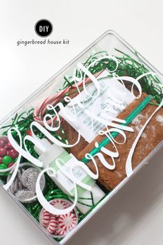 The perfect holiday gift: http://www.stylemepretty.com/living/2014/12/10/diy-gingerbread-house-kit/ #SMPHolidays